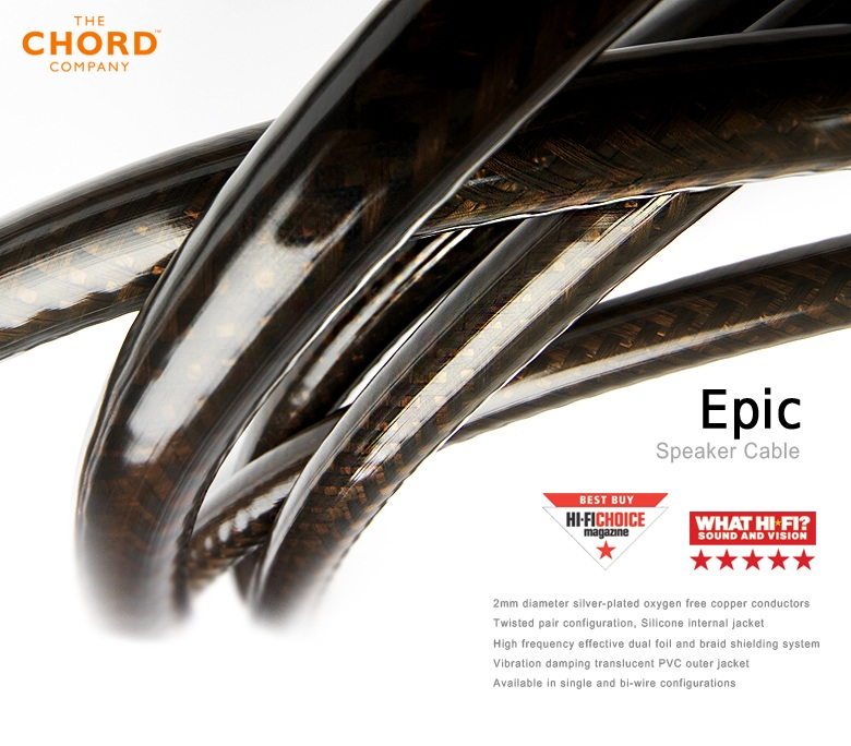Chord Epic Twin Single 3 metres Speaker Cable Brand New